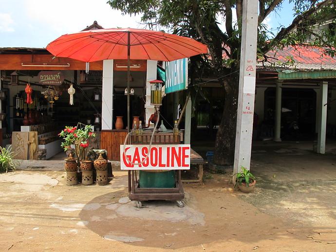 Gasoline for sale on Koh Lanta