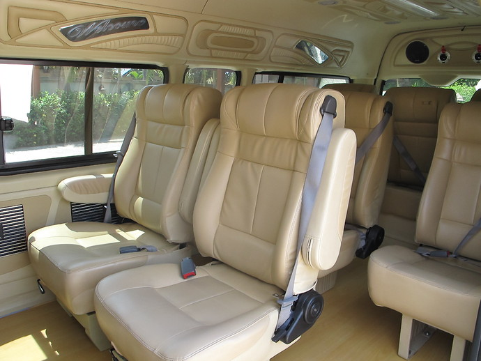 Interior of Minivan