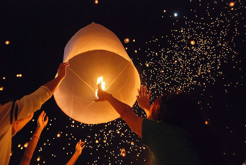 Lanterns In The Night Sky
