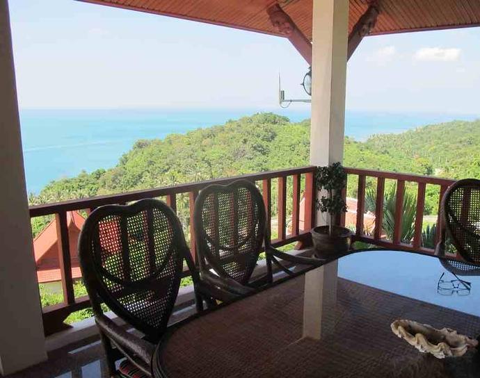 Outside terrace Oriental Pool Villa