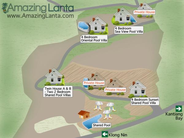 Kantiang Bay Sea View Villas Estate Map