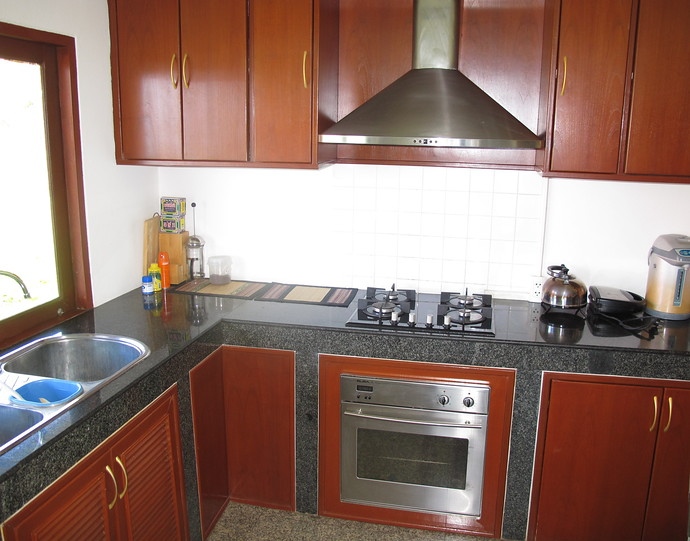 Kitchen in the four bedroom Sea View Pool Villa Koh lanta