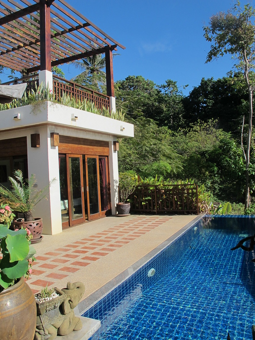 Khlong Nin Villa Private Pool Master Bedroom And Above A Seaview Terrace