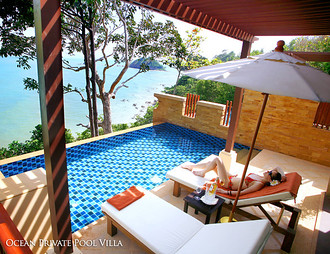 Ocean Private Pool Villa, Crown Lanta resort, Kawkwang Beach, Koh Lanta