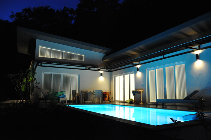 Koh Lanta Pool Villa Klong Khong Pool at Night