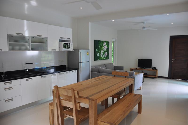 Koh Lanta Pool Villa Klong Khong Dining Area, Kitchen, Living Area