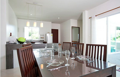 Large Dining Area and Open Kitchen