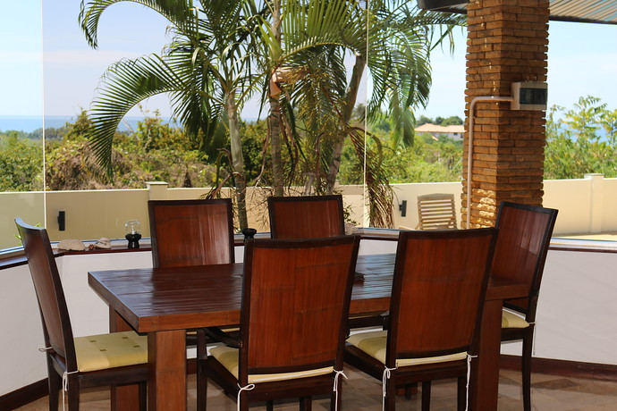 Villa Anakira Indoor Dining Area with seaviews