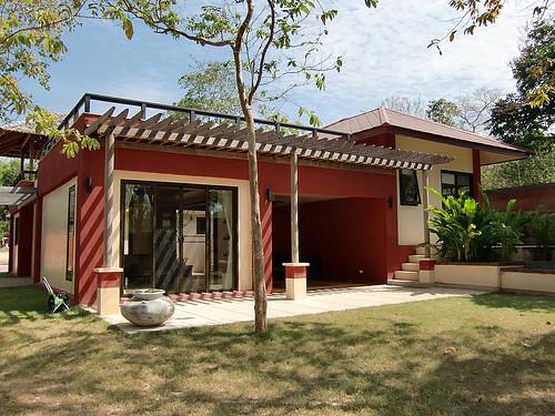 Outside Villa Itam with a spacious garden area