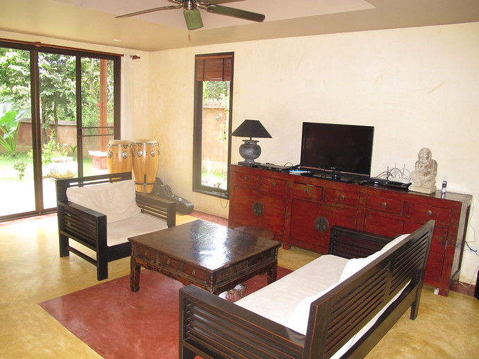 Living area in Villa Itam