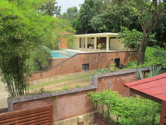 The Shared Pool is steps away from villa Itam