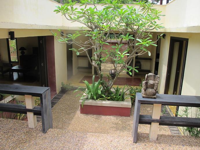 Villa Itam court yard entrance