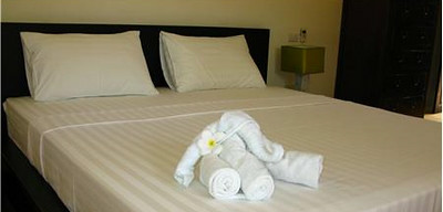 Villa Itam has two identical bedrooms with double beds