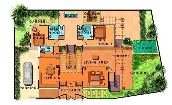 Villa Itam Floor Plan