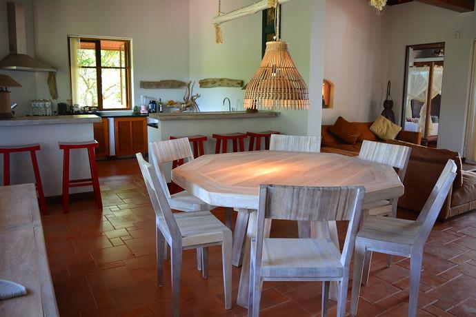 Villa Lipana Open plan dining room kitchen and lounge area