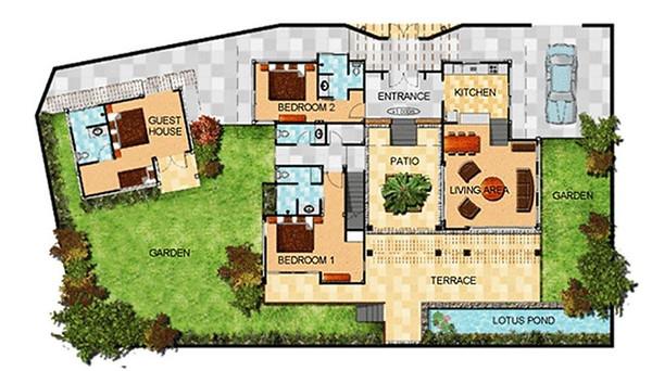 Villa Matahari Floor plan