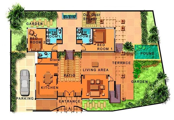 Villa Meray Floor Plan