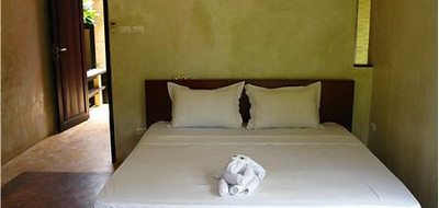 One of the Villa Meray bedrooms with a double bed