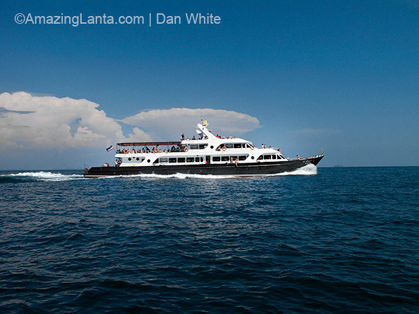 Passenger ferry from Krabi to Koh Phi Phi, Thailand.