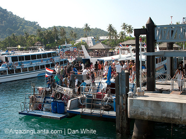 Passenger ferry moored at Koh Phi Phi, Thailand