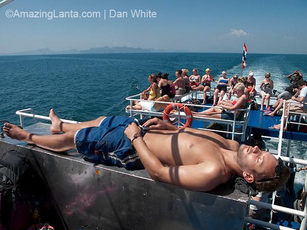 Passenger ferry from Krabi to Koh Phi Phi. Thailand.