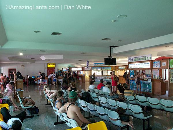 Ferry passenger terminal in Krabi Town.