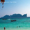 View of Koh Phi Phi Leh from Long Beach. Koh Phi Phi. Thailand.