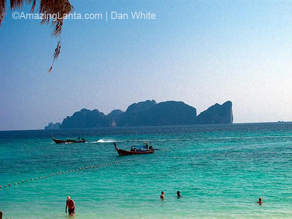 View of Koh Phi Phi Leh from Long Beach. Koh Phi Phi. Thailand.