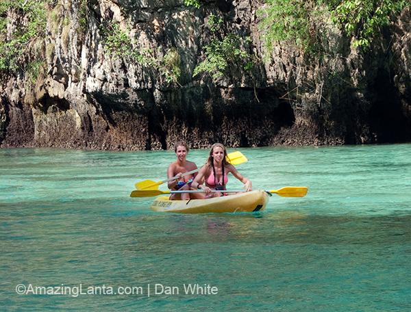 Kayaking at Phi Phi Leh, Koh Phi Phi, Thailand