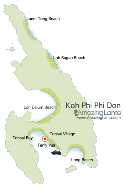 Koh Phi Phi Don map