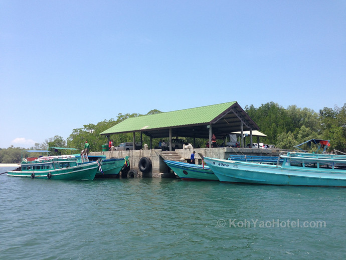 Ao Thalane Pier With Long Tail Boats
