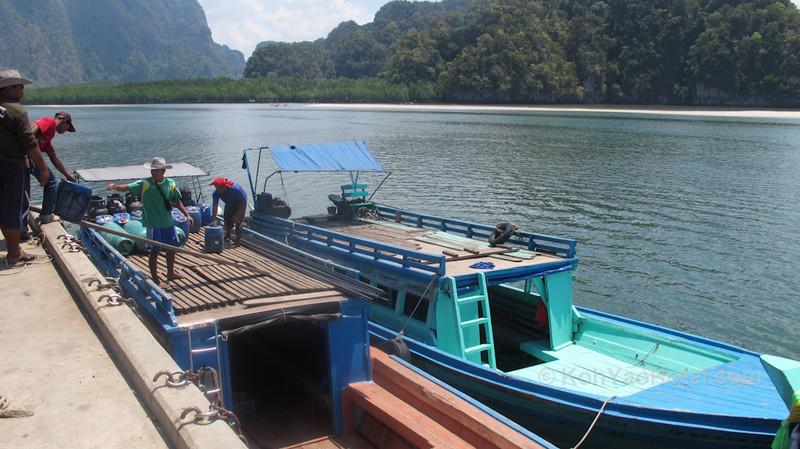 longtail boats thalane pier krabi
