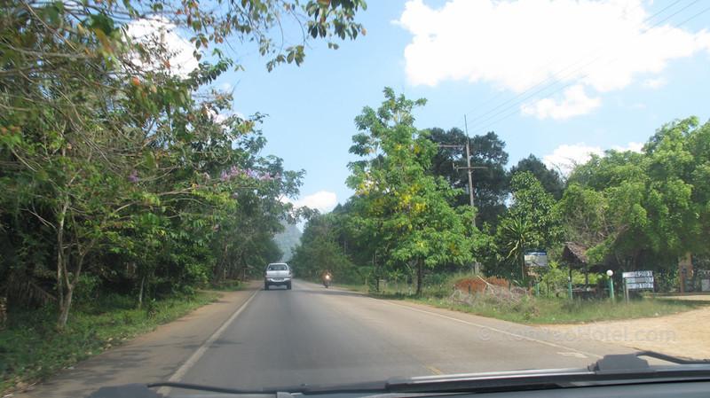 driving from krabi pier to thalane pier in krabi