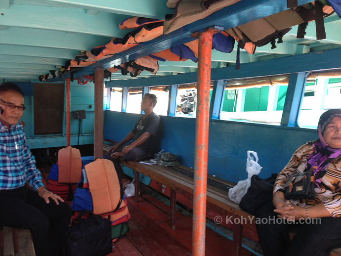 Longtail boat ferry service Ao Thalane Pier to Koh Yao