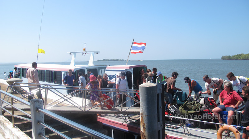 the Koh lanta ferry arriving at Krabi pier