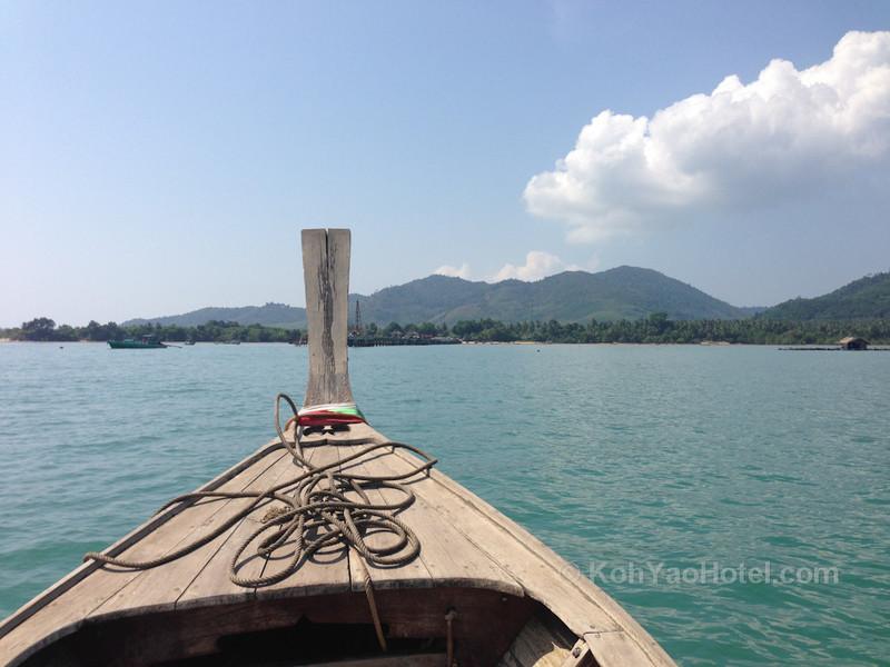 longtail boat ride between koh yao noi and koh yao yai islands