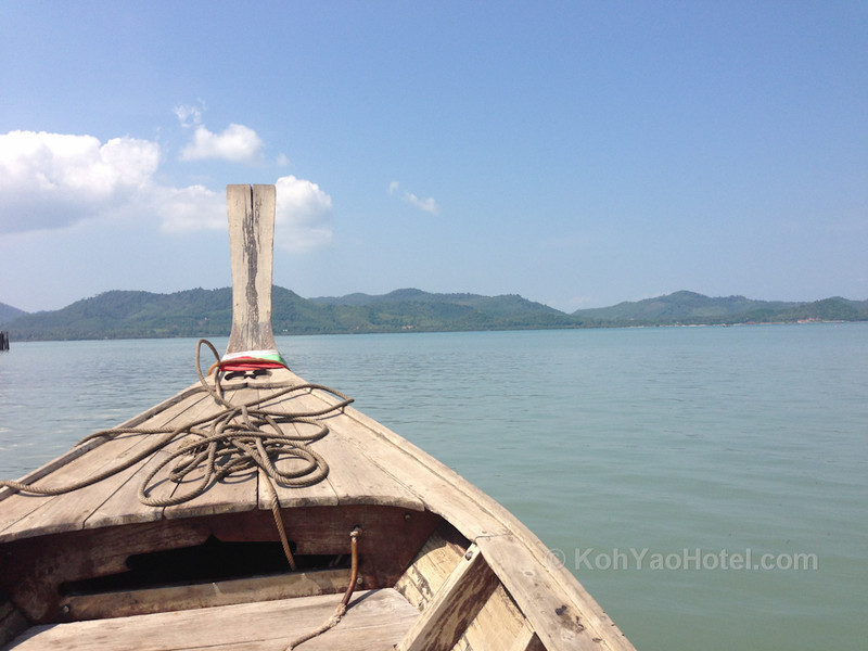 longtail boat ride between koh yao noi and koh yao yai islands