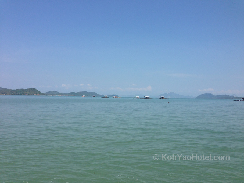 view of koh yao yai island from the longtail boat crossing