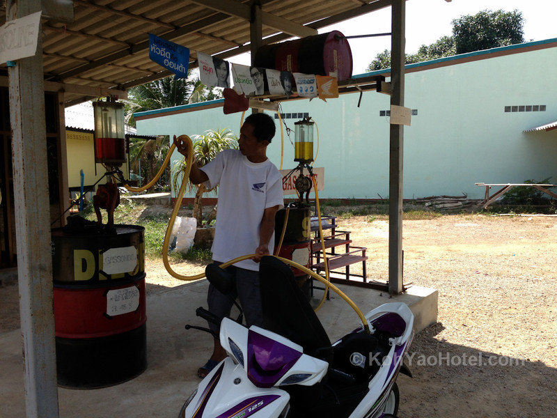 local gasoline station near koh yao noi village koh yao noi