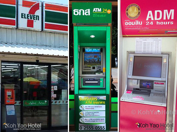 Koh Yao ATMs, Banks and Money Exchanges :: www.KohYaoHotel.com