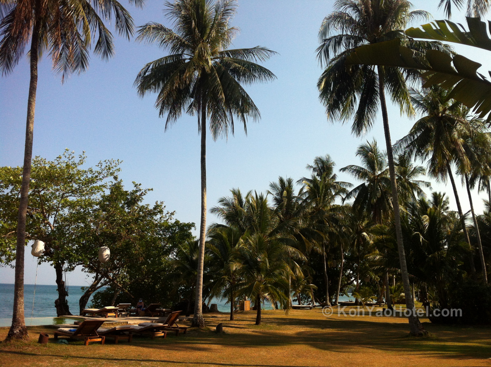Koyao Island Resort grounds overlooking the sea