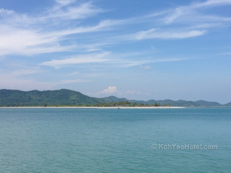 view of koh yao yai island taken from lam sai pier koh yao noi