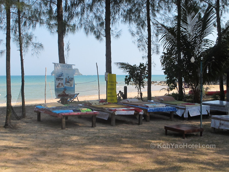 Massage tables, Pasai Beach, Koh Yao Noi