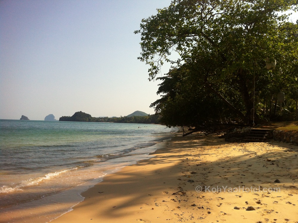 Beach in front of Koyao Island Resort