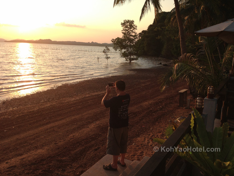 watching the sunset from good view restaurant koh yao noi