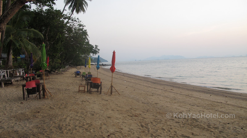 On the beach before sunrise outside Villaguna Koh Yao Noi