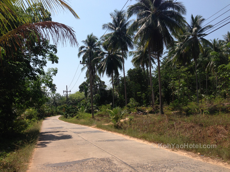 concrete roads on koh yao yai