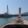 arriving to koh yao yai  by longtail boat from Koh Yao Noi