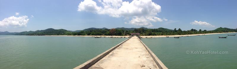 view from the pier next to baan taranya resort koh yao yai