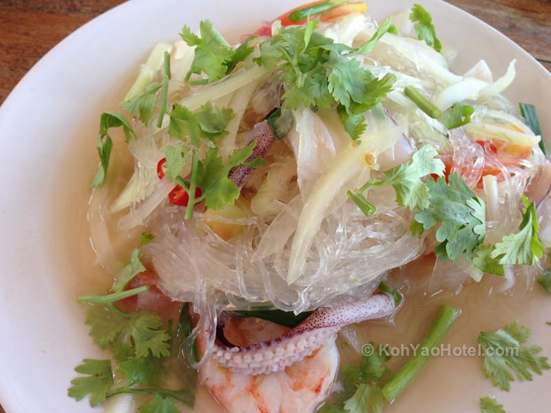 yam seafood in thiw son beach resort koh yao yai